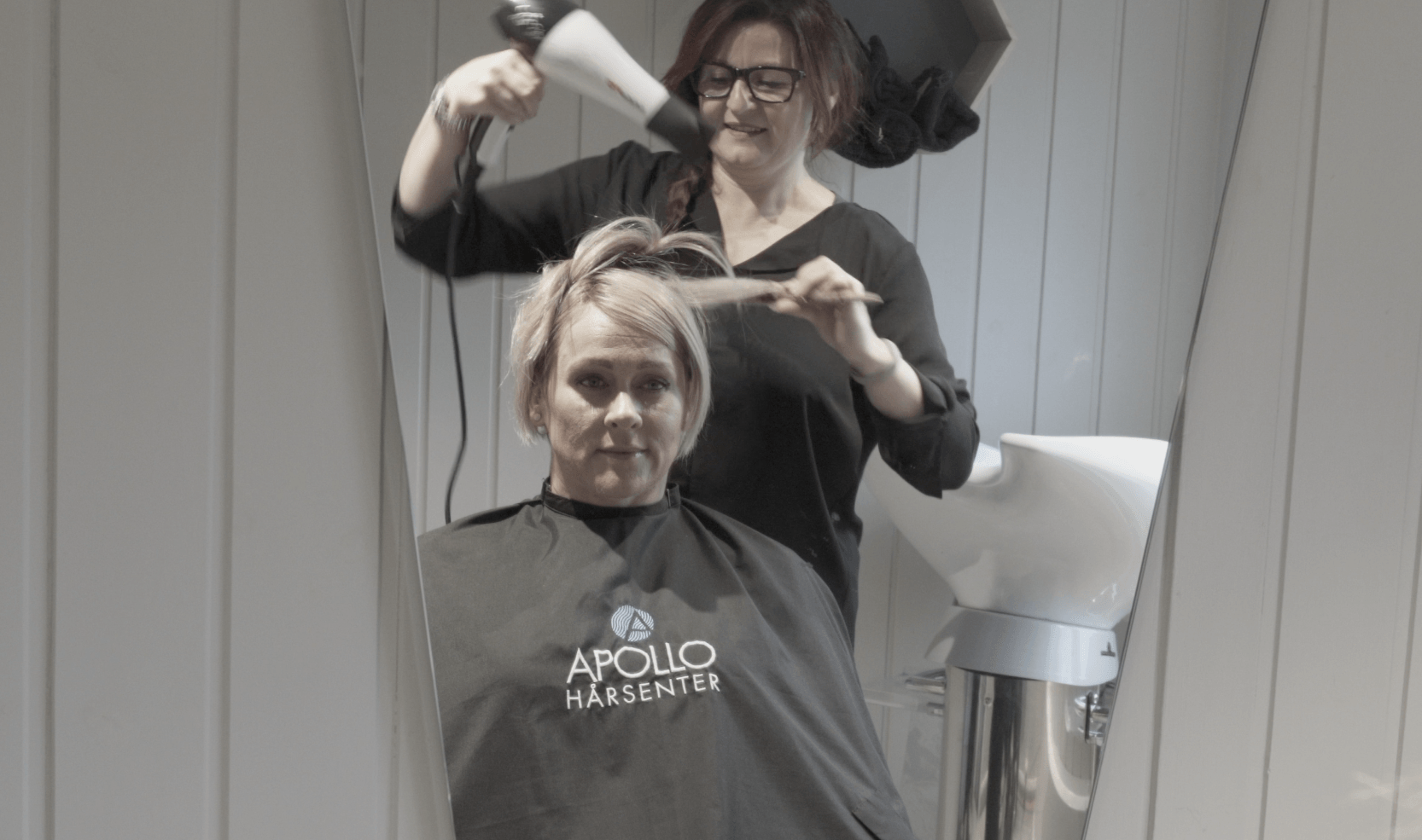 Lill-Eva får hjelp med hårtapet hos Apollo Hårsenter