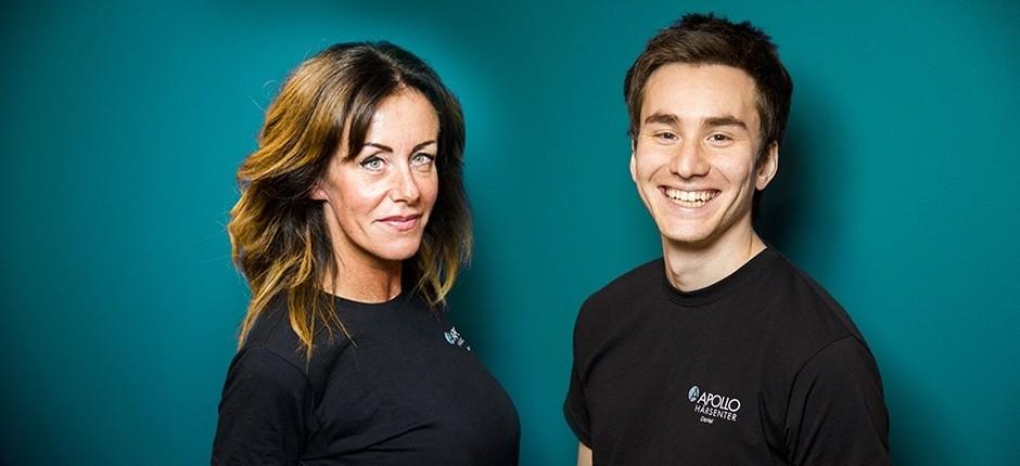 Anette og Daniel er hårspesialister hos Apollo Hårsenter Lørenskog